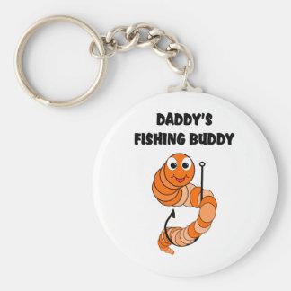 Daddy's Fishing Buddy Basic Round Button Keychain