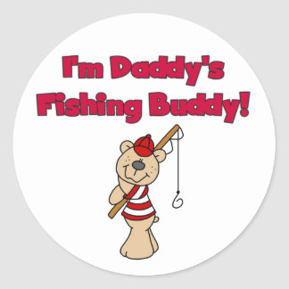 Daddy's Fishing Buddy Tshirts and Gifts Classic Round Sticker