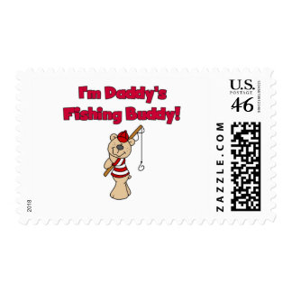 Daddy's Fishing Buddy Tshirts and Gifts Postage Stamp