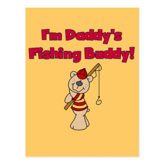 Daddy's Fishing Buddy Tshirts and Gifts Postcard