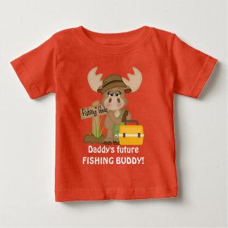 Daddy's future fishing buddy baby boy t-shirt