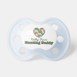 Daddy's Future Hunting Buddy Pacifier Blue