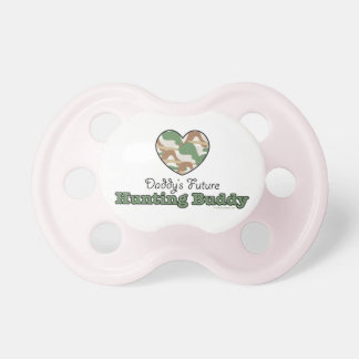 Daddy's Future Hunting Buddy Pacifier Pink