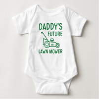 Daddy's Future Lawn Mower Baby Bodysuit