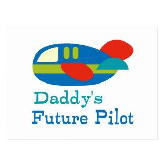 Daddy's Future Pilot Postcard