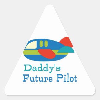 Daddy's Future Pilot Triangle Sticker