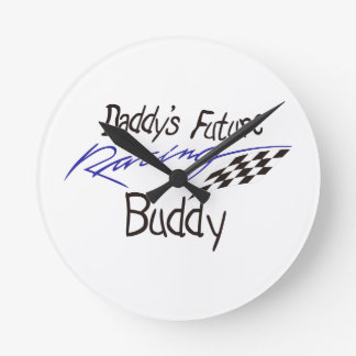 Daddys Future Racing Buddy Round Clock