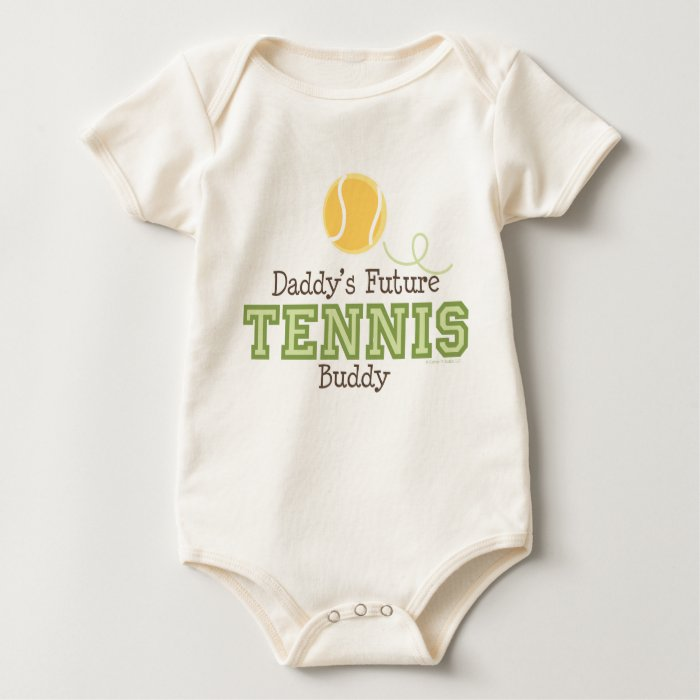 Daddy's Future Tennis Buddy Baby Baby Bodysuit