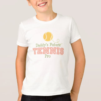 Daddy's Future Tennis Kids T shirt