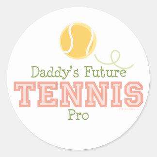 Daddy's Future Tennis Pro Sticker