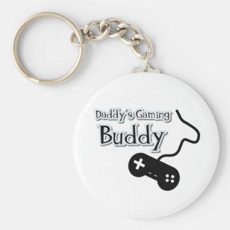 Daddy's Gaming Buddy Basic Round Button Keychain