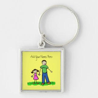 Daddy's Girl Brunette Keychain (Custom Names)