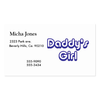 Daddy's Girl Business Card