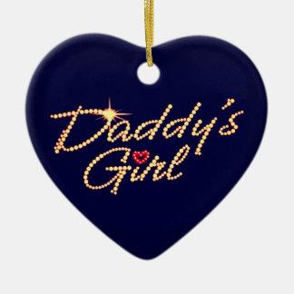 Daddy's girl ceramic ornament
