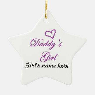 Daddys Girl Ceramic Ornament