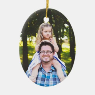 Daddy's Girl Christmas Photo Ornament Keepsake
