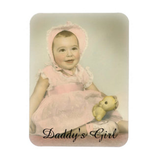Daddy's Girl Customizable Baby Photo Magnet