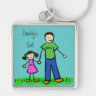Daddy's Girl Drawing Keychain