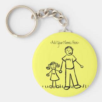 Daddy's Girl Drawing Keychain (Custom Names)