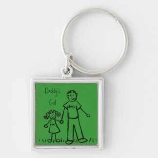 Daddy's Girl Drawing Keychain (Customize)