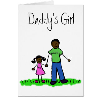 Daddy's Girl Family Character Custom Greeting Card