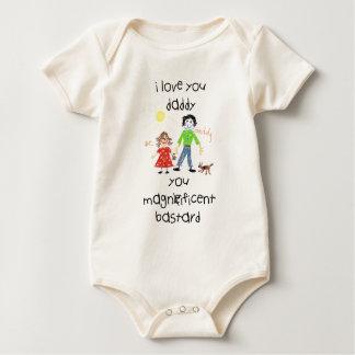 daddy's girl funny, rude illustration baby bodysuit