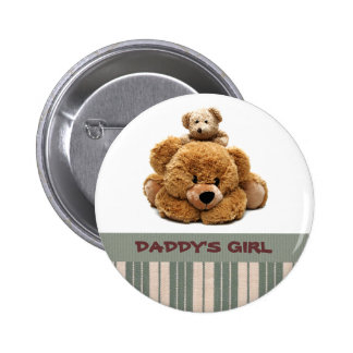 Daddy's Girl. Funny Teddy Bears Buttons