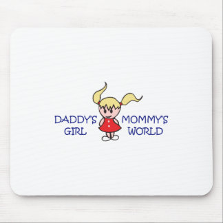 DADDYS GIRL MOMMYS WORLD MOUSE PAD
