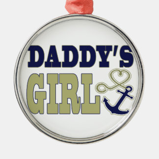 Daddy's Girl Nautical Metal Ornament