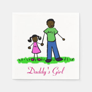 Daddy's Girl Personalized Family Art Napkin Standard Cocktail Napkin
