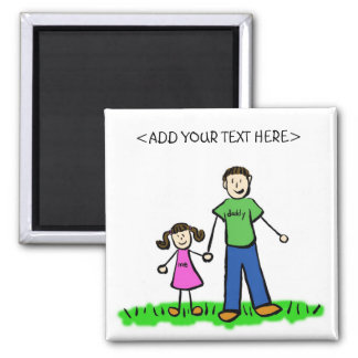 Daddy's Girl Personalized Family Magnet Gifts