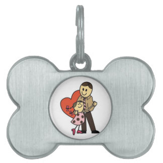 Daddy's Girl Pet Name Tag