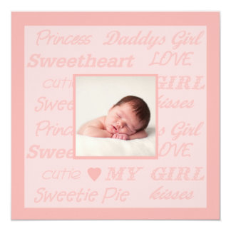 Daddy's Girl Photo Birth Announcement
