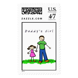 Daddy's Girl Postage Stamp