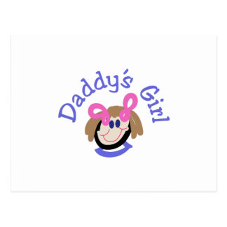 Daddys Girl Postcard