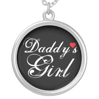 Daddy's Girl Round Pendant Necklace