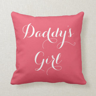 Daddy's Girl Typography Throw Pillow