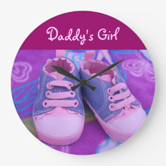Daddy's Girl wall clocks Pink Purple Blue shoes