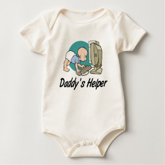 Daddy's Helper Computer Baby Bodysuit