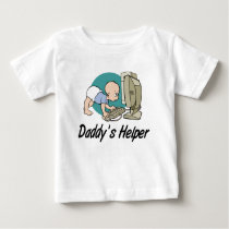 Daddy's Helper Computer Baby T-Shirt