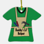 Daddy's Helper Tool Apron Photo Christmas Ornament