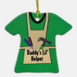 Daddy's Helper Tool Apron Photo Christmas Ornament
