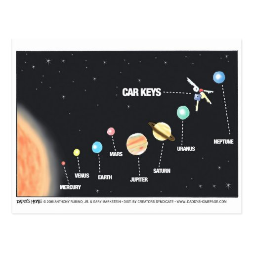 Daddy's Home Car Keys Lost In Space Postcards
