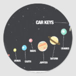 Daddy's Home Car Keys Lost In Space Classic Round Sticker