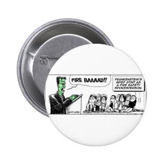 Daddy's Home Frankenstein Fire Safety Pinback Button