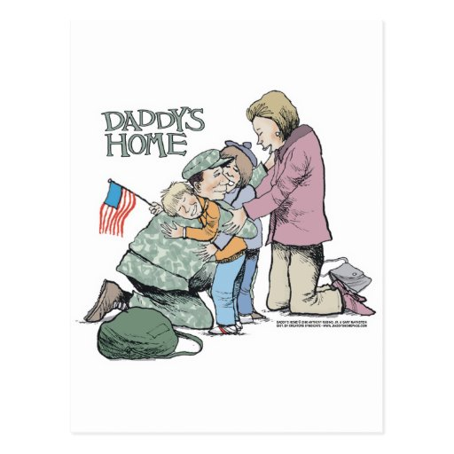 Daddy's Home Homecoming Postcard
