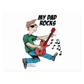 Daddy's Home My Dad Rocks Postcard