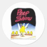 Daddy's Home Peep Show Round Sticker