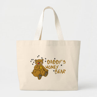 Daddy's Honey Bear Large Tote Bag