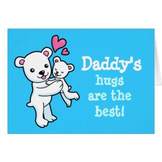 Daddy's hugs are the best Polar bear cuddle card